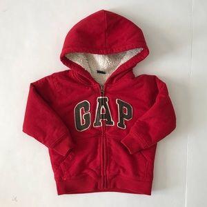 Gap sherpa hoodie full zip boys size 2T